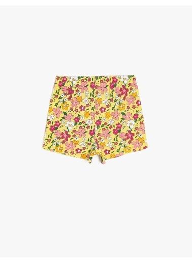 Koton Kids Çiçekli Şort Sarı